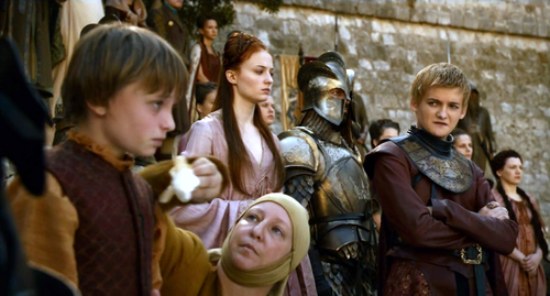 Sansa with Joffrey and Tommen