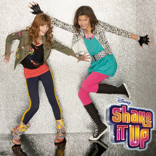 Zendaya Coleman wallpaper probably containing a hip boot, tights, and a street titled Shake it Up photoshoot