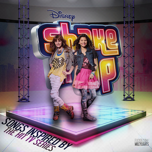 Zendaya Coleman wallpaper possibly with a sign titled Shake it Up photoshoot