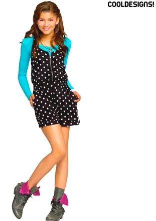 Zendaya Coleman wallpaper probably containing a playsuit, a chemise, and a hip boot called Shake it Up photoshoot