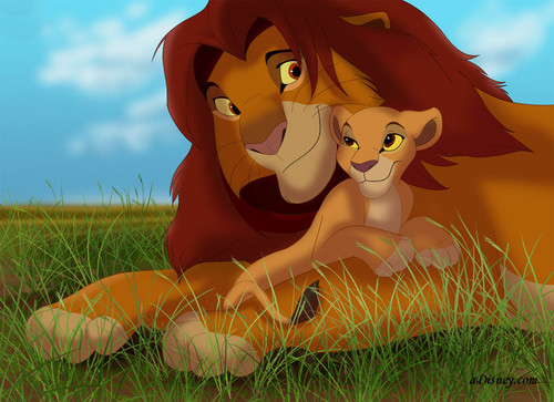 The Lion King 2:Simba's Pride wallpaper entitled Simba and Kiara