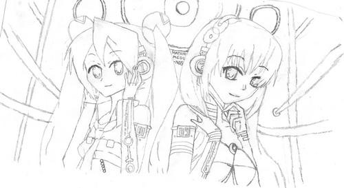Simple and Clean Megurine Luka and Hatsune Miku