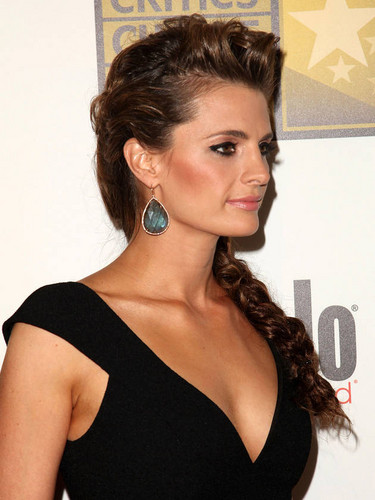 Stana Katic Close Up at the 2nd Annual Critics' Televisione Choice Awards on June 18, 2012