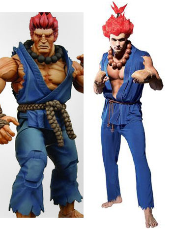 jalan, street Fighter Akuma Cosplay Costume