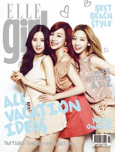 Taeyeon, Tiffany and Seohyun @ ELLE Girl Magazine