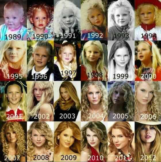 Taylor through the years.