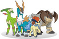 Terrkion, Virizon, Combolion, and Keldeo