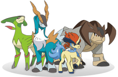 Terrkion, Virizon, Combolion, and Keldeo - pokemon Photo