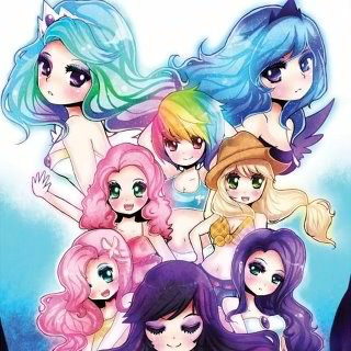 humanized my little pony wallpaper containing anime called The Mane Six