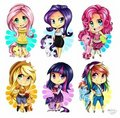The Mane Six - humanized-my-little-pony photo