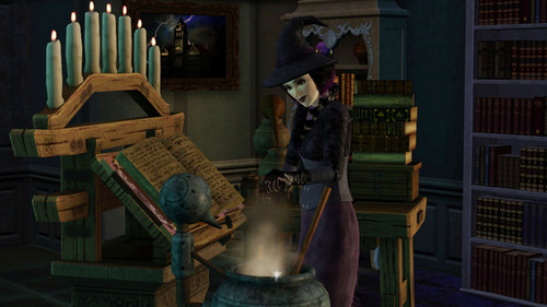 The Sims 3 wallpaper possibly with a fire called The Sims 3 Supernatural Witch