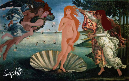 disney crossover fondo de pantalla with anime called The birth of Venus (cartoon version)