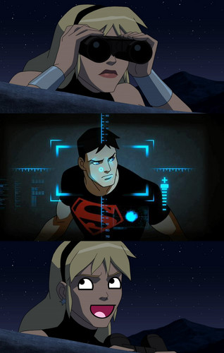 This is why Nightwing doesn't team-up Superboy and Wonder Girl - young-justice Photo