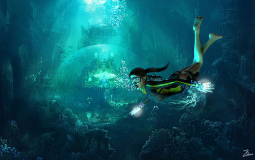 Tomb Raider wallpaper with a snorkel and a snorkeling entitled Tomb Raider