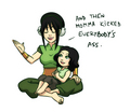 Toph and Lin - lin-beifong fan art