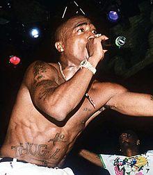 Tupac Shakur rapper performing live