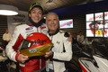 Valentino and Giacomo Agostini (Silverstone 2012)