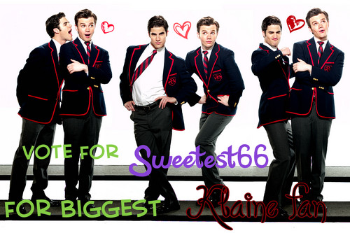 Vote for Sweetest66 for biggest Klaine प्रशंसक