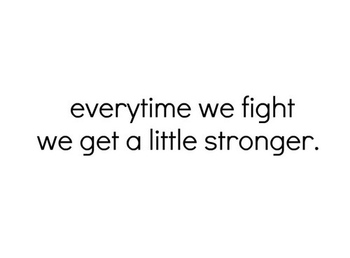 WE GET STRONGER !