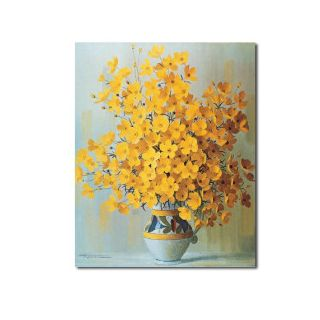 Fine Art wallpaper possibly with a bouquet called Warm Yellow Bouquets Oil Painting