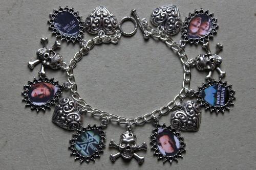 X FILES charm bracelet