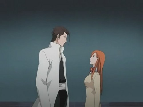 aizen & orihime meeting face to face