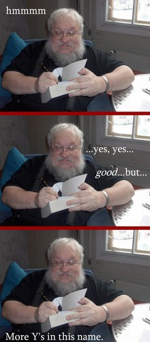 How the editing process must have gone for the ASoIaF