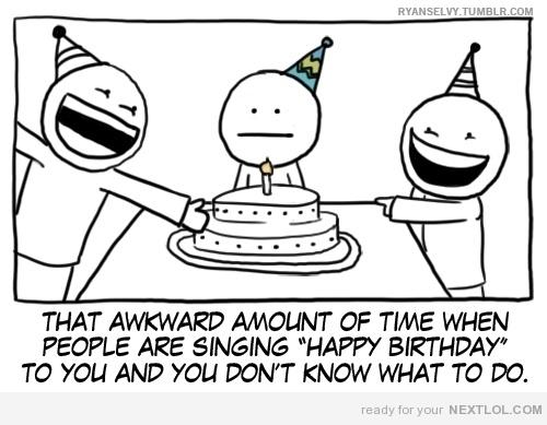 awkward birthday