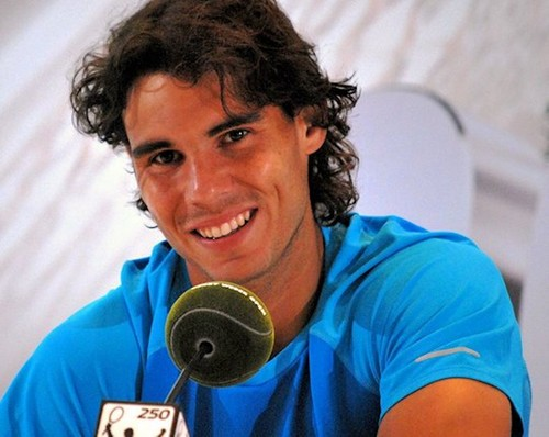 blue Rafa and his best smile ! - rafael-nadal Photo