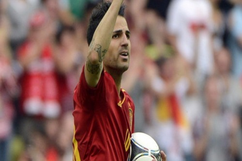 Cesc Fabregas wallpaper entitled euro 2012: Spain-Italy