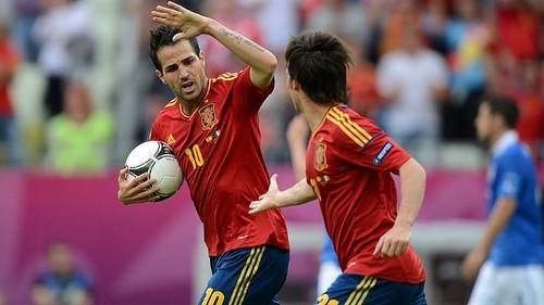 Cesc Fabregas wallpaper called euro 2012: Spain-Italy