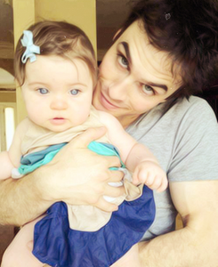 Photography Fan wallpaper with a neonate titled ian somerhalder