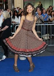 Zendaya Coleman wallpaper probably containing a kirtle and a polonaise entitled image of zendaya