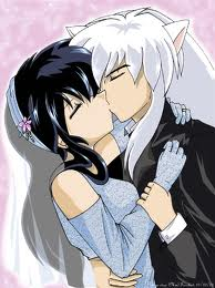 inuyasha and kagome KISS!!! - inuyasha-and-kagome Photo
