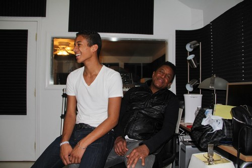 jaafar jackson and his father jermaine jackson