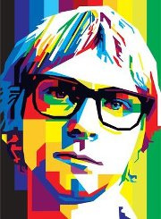 k.cobain in wedha's pop art potrait
