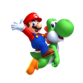 Mario and Yoshi - yoshi photo