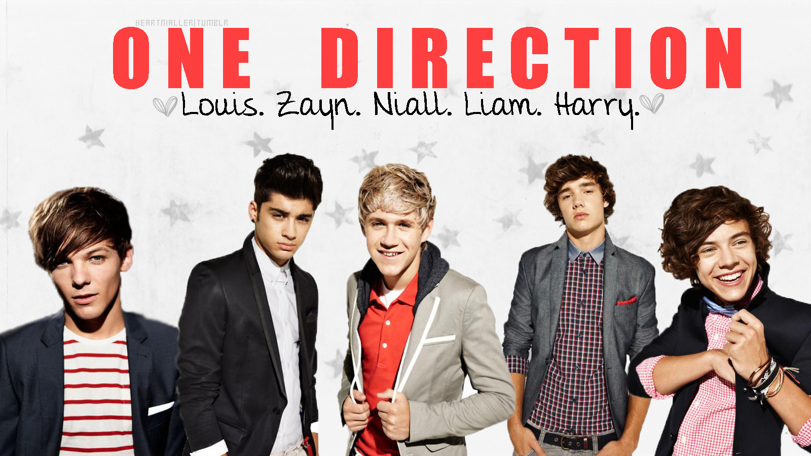 one direction names and pictures
