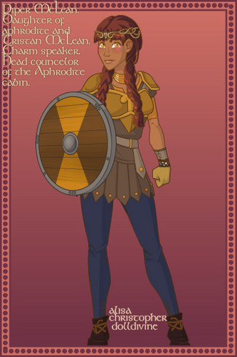 piper mclean on the argoII on their way to rome - the-heroes-of-olympus Fan Art