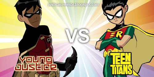 Teen Titans vs. Young Justice fond d'écran probably containing animé titled robin-young-justice-vs-teen-titans