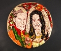 royal wedding mosaic pizza - pizza photo