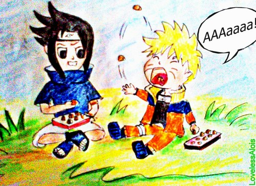 Naruto Chibi's! hình nền possibly containing anime titled SasuNaru