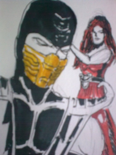 skorpion and the oc girlfriend i made for him
