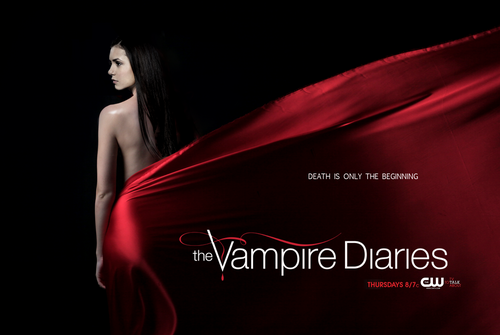 Vampire Diaries fond d'écran probably with a dîner dress and a cocktail dress titled season 4 poster