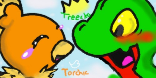 torchic asks treecko something personal XD