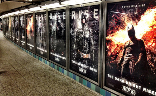 Tom Hardy wallpaper entitled 'Dark Knight Rises' Marketing Hits the Streets (New York)