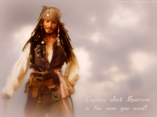 ...the man you need - captain-jack-sparrow Wallpaper