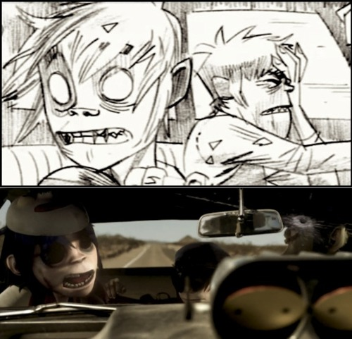 2D and Murdoc in Stylo