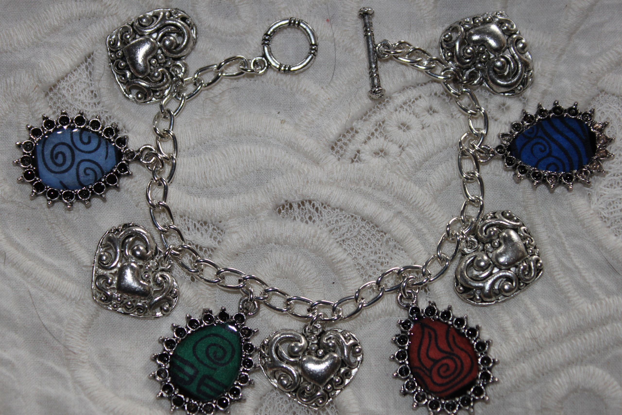 4 Nations Emblems charm bracelet
