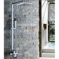 8 Inch Chrome Rainshower Shower Suit with Handshower and Shower Heads